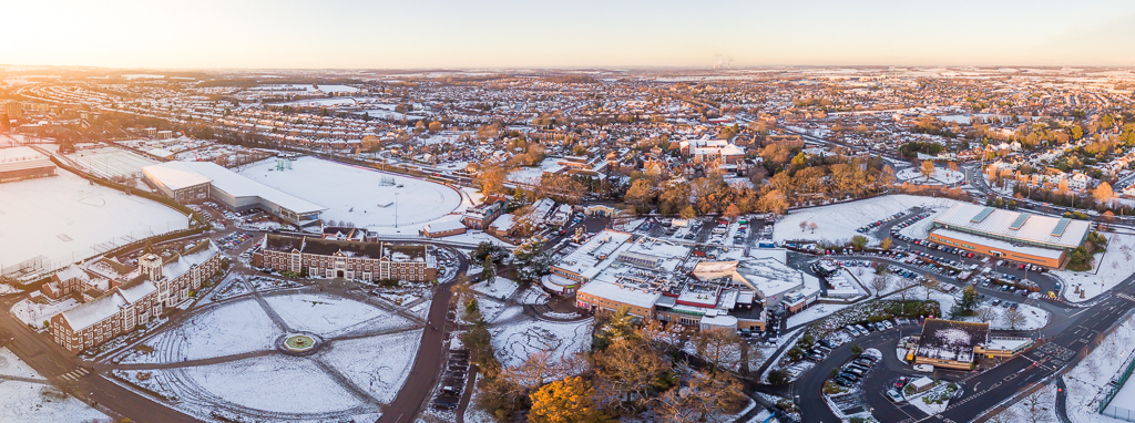 Aerial views of snow in loughborough gareth nunns - Loughborough university swimming pool ...