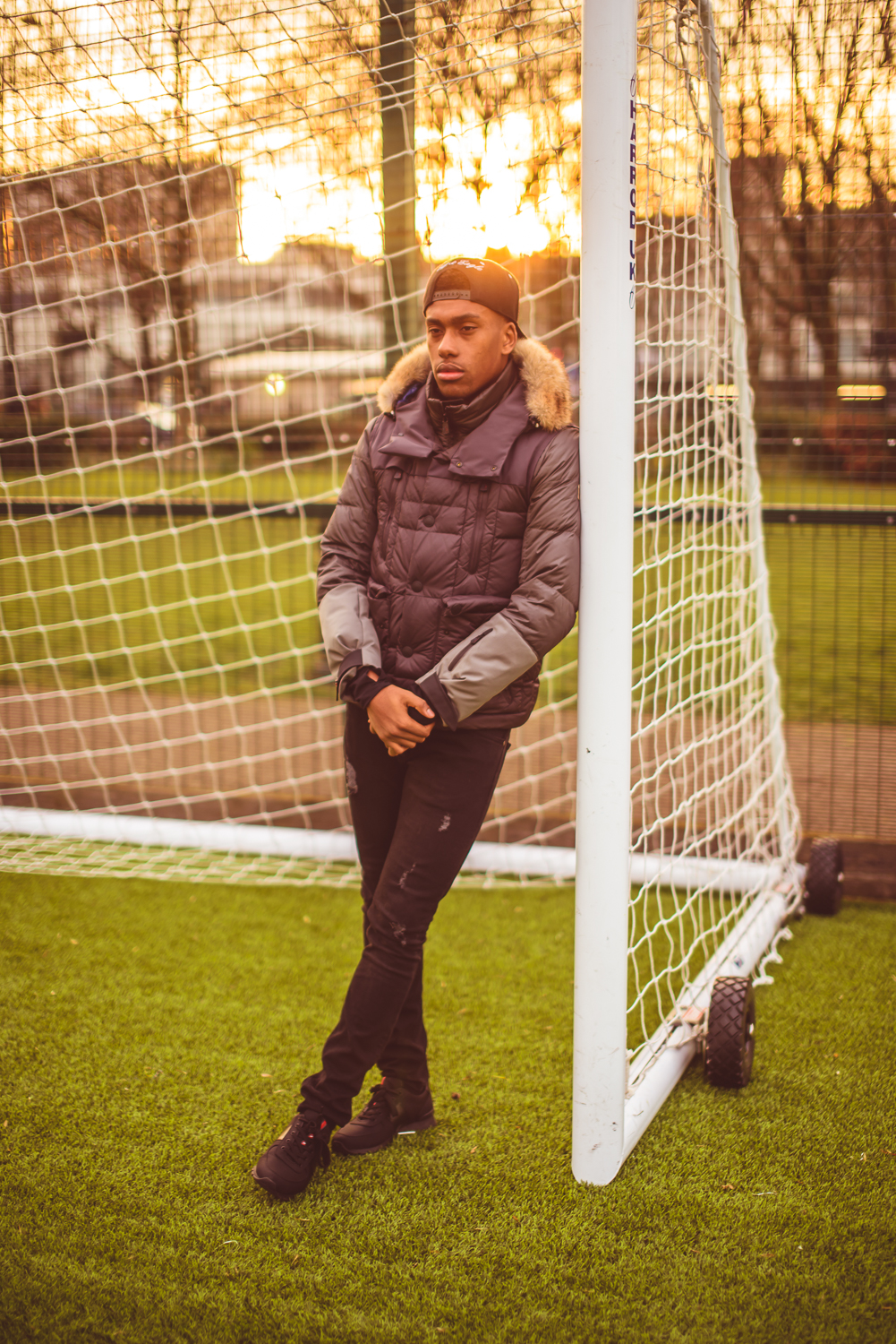 Alex Iwobi full body shot as part of photoshoot