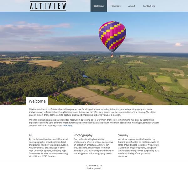 AltiView Website Design by Gareth Nunns