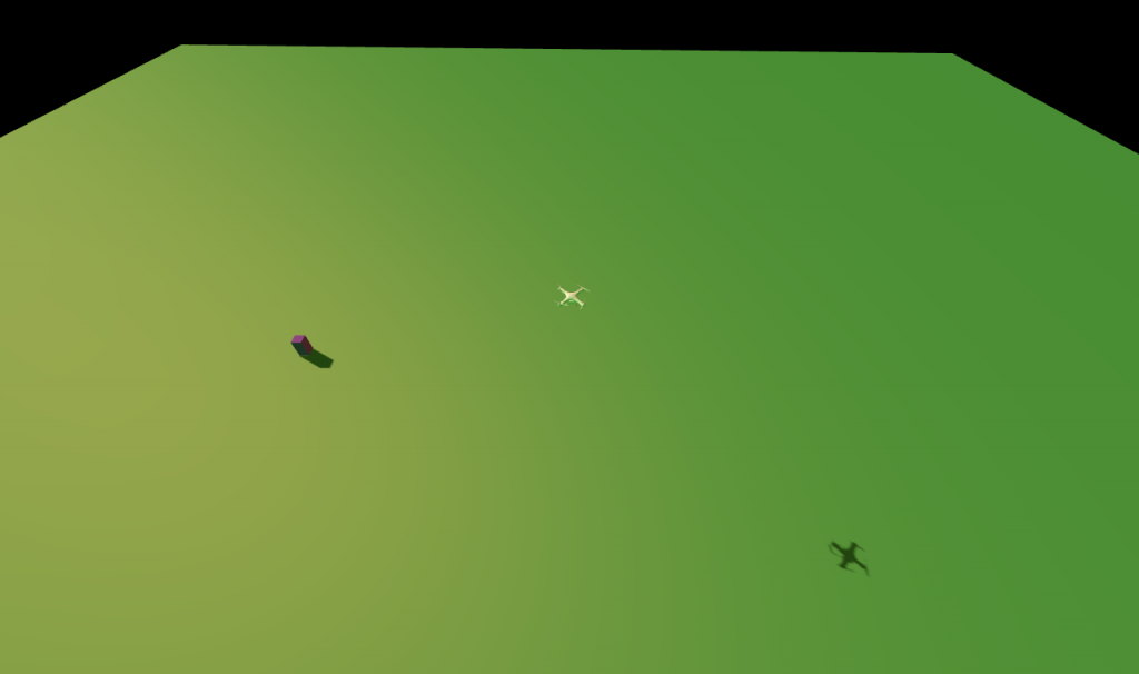 Autonomous drone simulation using three.js