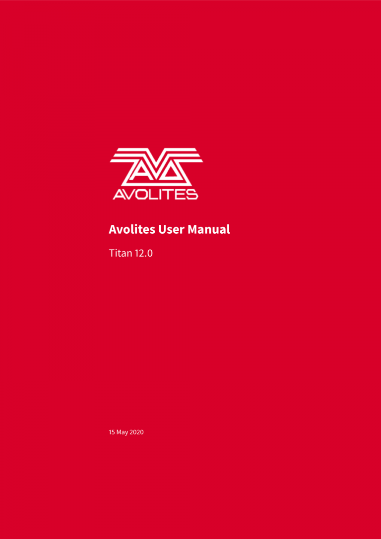 Avolites Titan Manual PDF