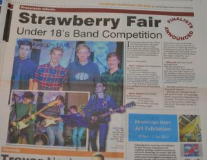 Cambridge Band Competition in the Cambridge News, using my photos