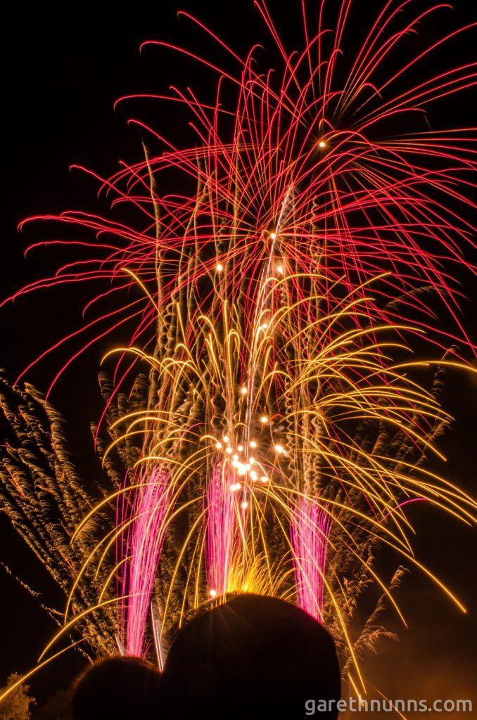 Cambridge Fireworks on Parker's Piece