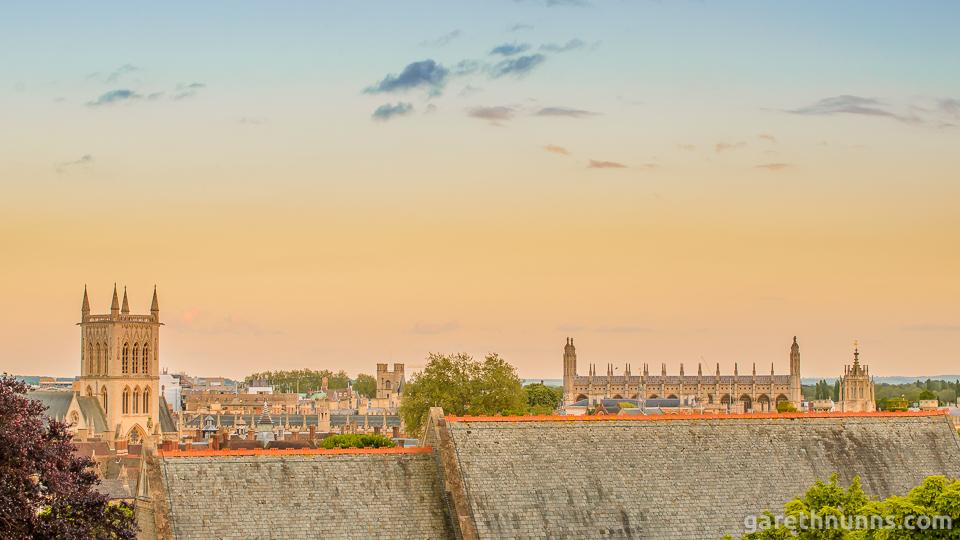 Cambridge skyline from Castle Mound