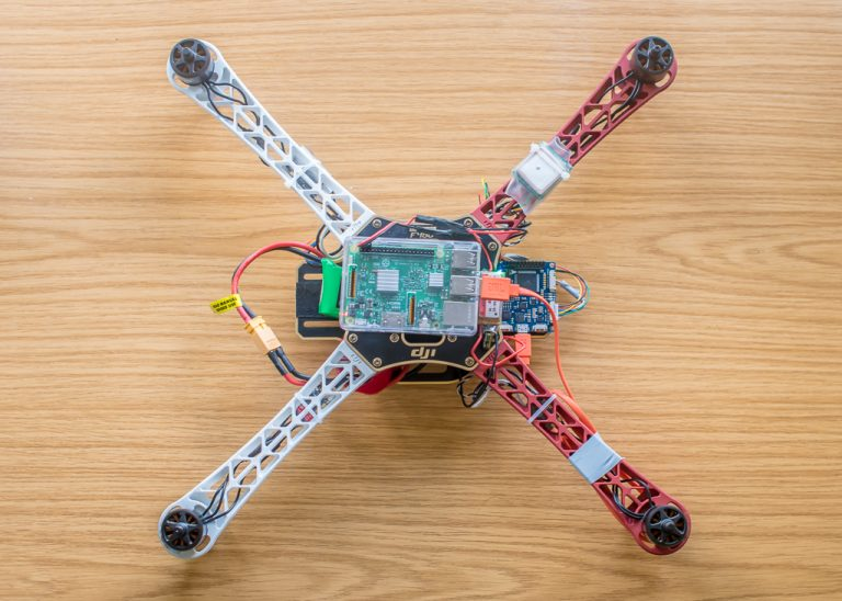 An autonomous drone, based on a DJI 450 frame, Raspberry Pi & Multiwii flight controller