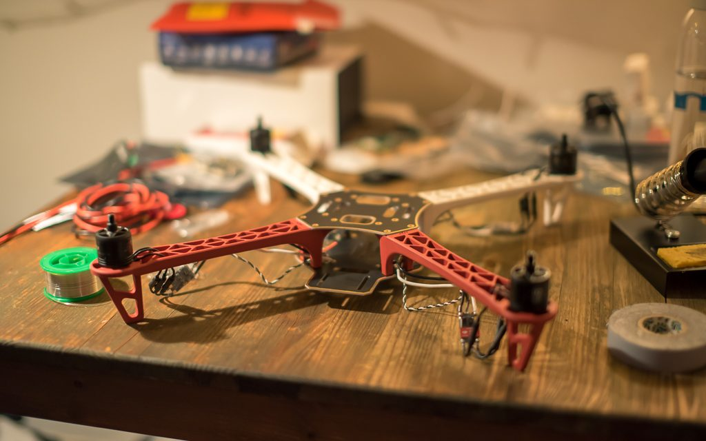 Gareth Nunns is constructing a DJI F450 ARF for his Final Year Project, which will then be controlled by a Raspberry Pi over WiFi