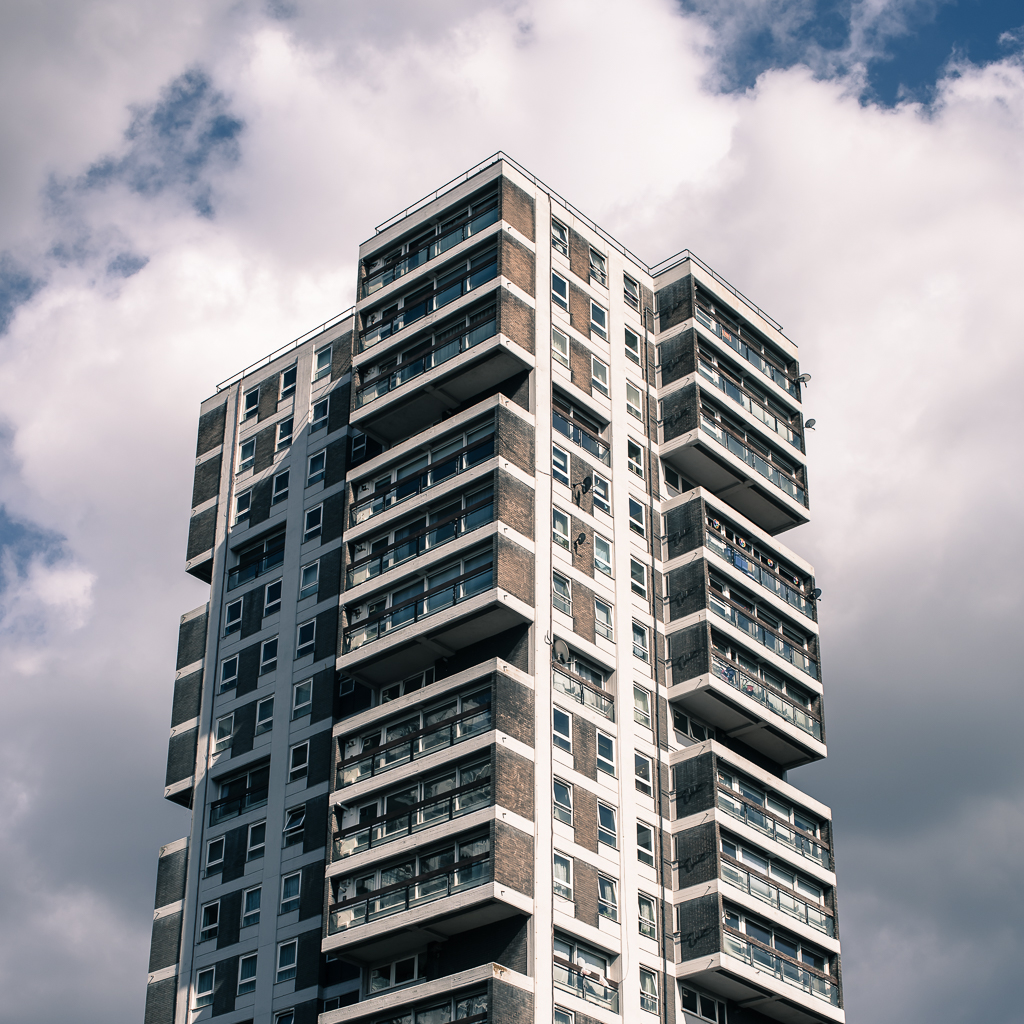 High rise block in London by the River Thames