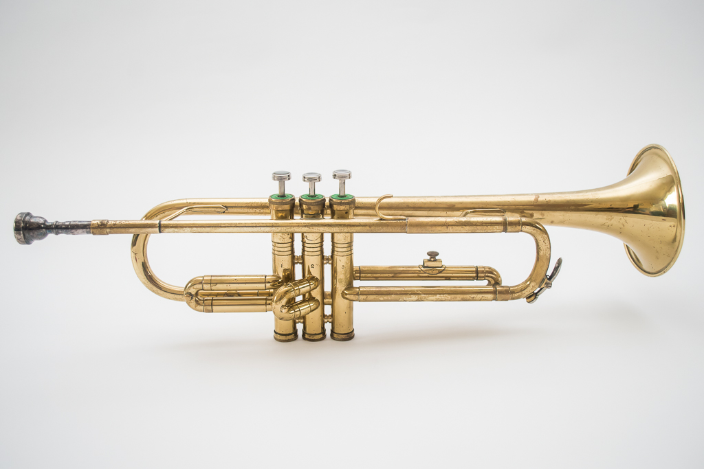 Trumpet with white background