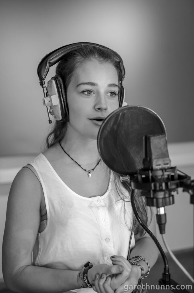 Grace Sarah (Tyne) in the studio for the NMG Collective