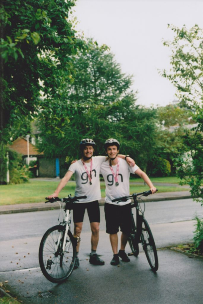 London to Cambridge cycle with Paddy