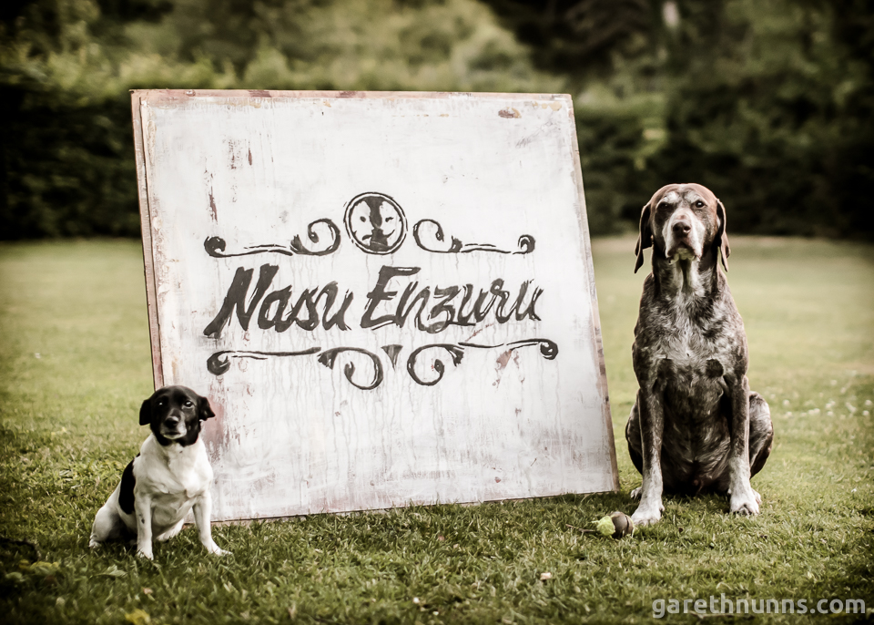Nasu Enzuru logo on sign with dogs