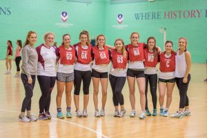 Loughborough University Netball in Badminton/Netball centre