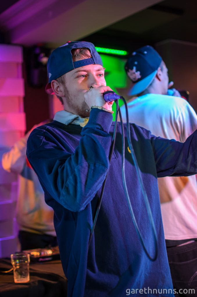 Rapper at Prime Rhyme event at The Portland Arms Cambridge