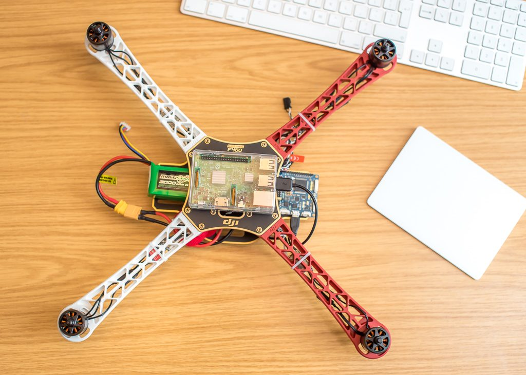 An autonomous drone, based on a DJI 450 frame, Raspberry Pi and Multiwii flight controller