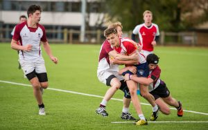 Rugby played on Loughborough University rugby pitch