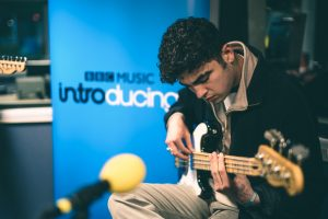 The Staycations bassist at BBC Introducing Cambridge