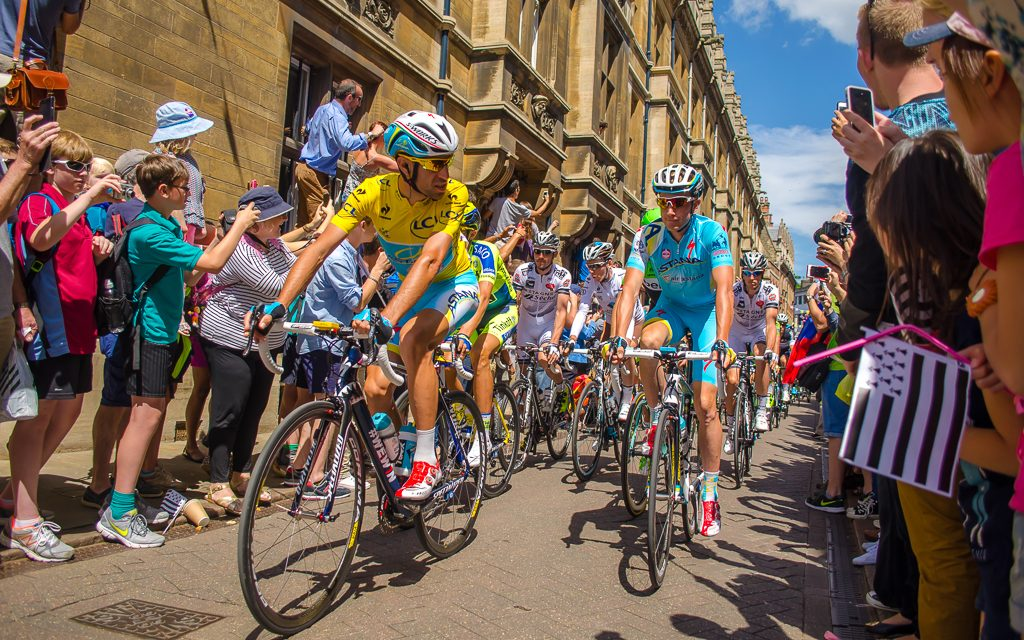 Tour de France on Trinity Street in Cambridge