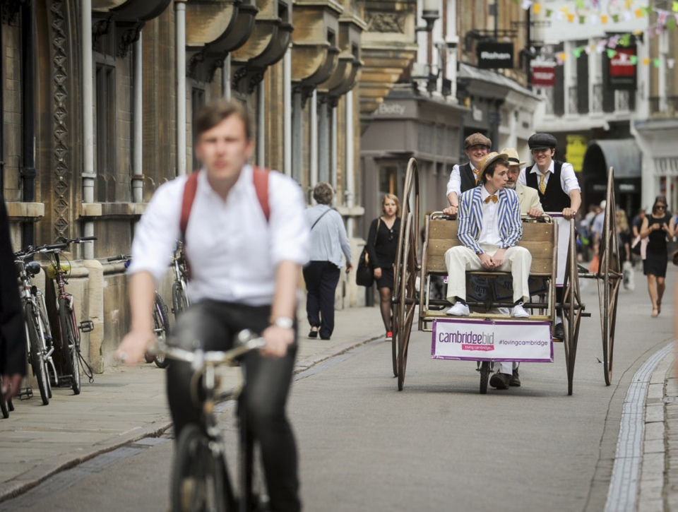 'Quadricycle' and 'Dicycle' bikes parading the city streets ahead of Tour de France