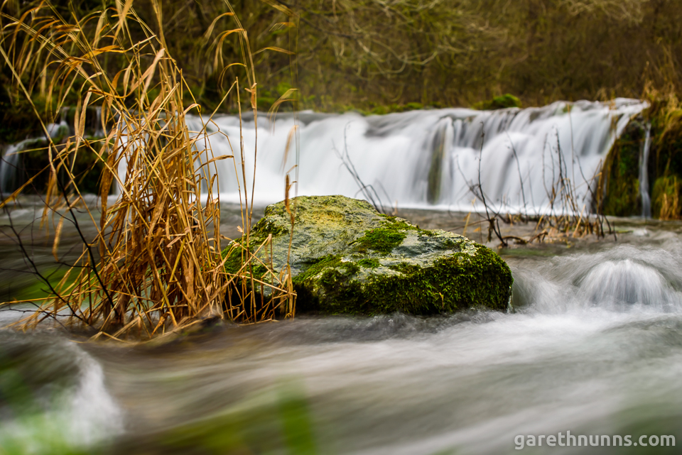 Waterfall in the Peak District long exposure