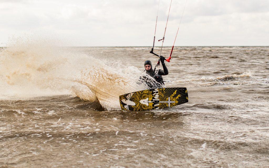Windsurfing at Hunstanton Beach, Norfolk