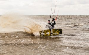 Windsurfing at Hunstanton Beach, Norfolk