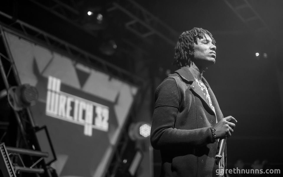 Wretch 32 performing at Loughborough Students' Union