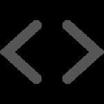 Code angular brackets logo